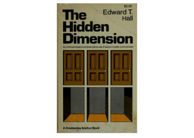 The Hidden Dimension by Edward T Hall
